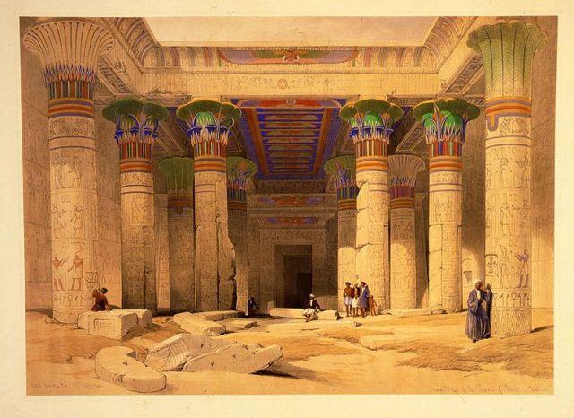 Temple at Philae; mid 19th century